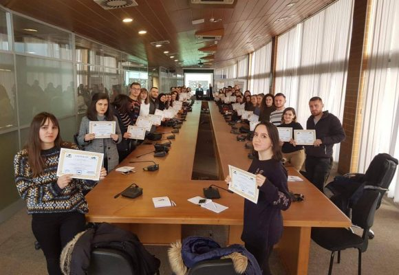 "Association for the Support of the Education and Vocational Training of the Republic of Kosova, in cooperation with NGO Yellow, today held a Training for Students on ""Labor Market Training"""