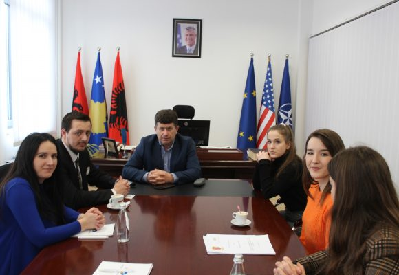 Vice Mayor of the Municipality of Drenas, Prof. Dr. Nazmi Hasi, received in a meeting the President of the Association for the Support of the Education and Vocational Training of Republic of Kosova, Shkelzim Murtezi
