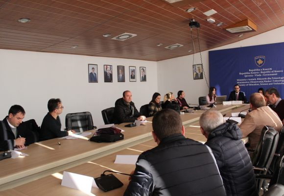 Asociacioni për Mbështetjen e Arsimit dhe Aftësimit Profesional të Republikës së Kosovës ka mbajtur mbledhje me Komitetin Kombëtar për Organizimin e Garës Kombëtare për Kimi në fushën e Arsimit
